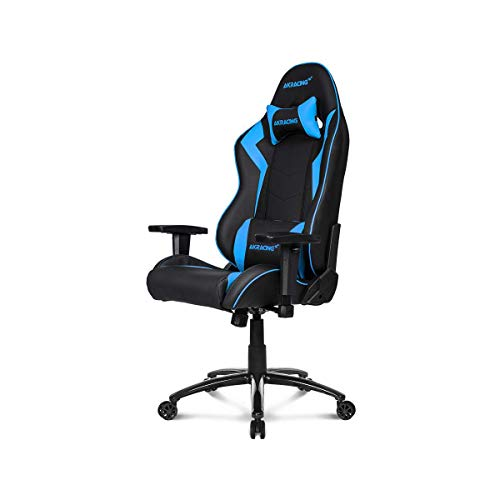 AKRacing Core Series SX Gaming Chair with High Backrest, Recliner, Swivel, Tilt, Rocker and Seat Height Adjustment Mechanisms with 5/10 warranty - Blue AKRacing