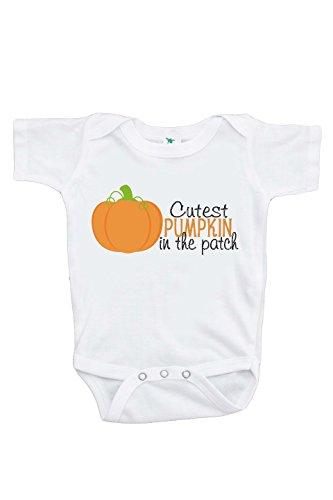 Custom Party Shop Baby's Cutest Pumpkin Halloween Onepiece 0-3 Months (First Halloween Outfit)