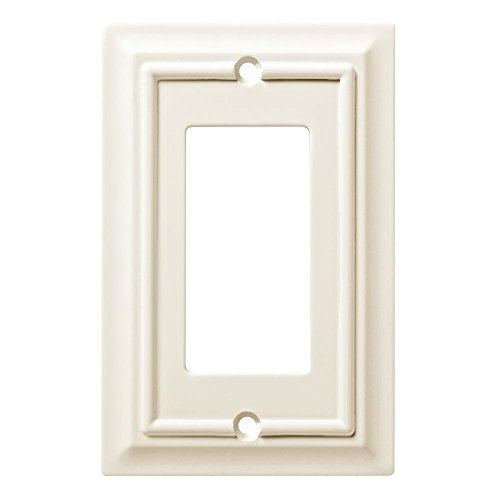 - Hampton Bay Architectural Wood Decorative Single Rocker Switch Plate White