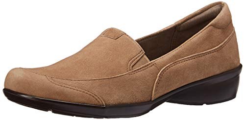 Naturalizer Women's Channing Loafer, Oatmeal Suede, 7 N - Loafers Naturalizer Suede