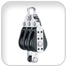 Triple Becket Block - Harken Bullet Blocks, triple bullet block w/ becket
