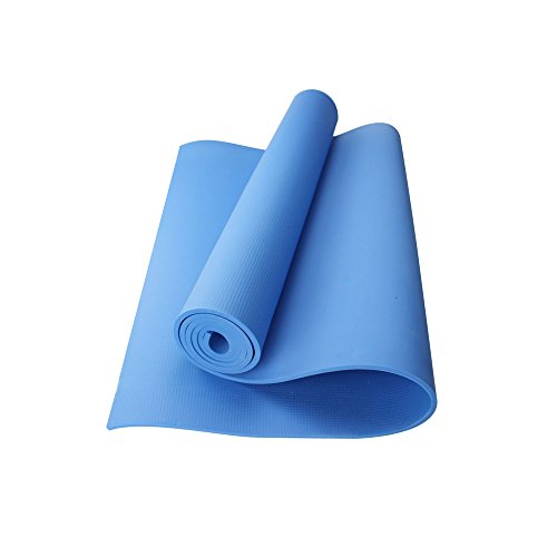 Ezyoutdoor 24x68 Inch Extra Thick High Density Eco Friendly TPE Non-Slip Best Exercise Yoga Mat (Blue, - Ocelot Sunglasses