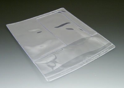10'' x 12'' Multi Pocket Clear Vinyl Organizer with 2 Pockets & Hang Hole (10 Gauge) (100 Organizers) - AB-99-3-102