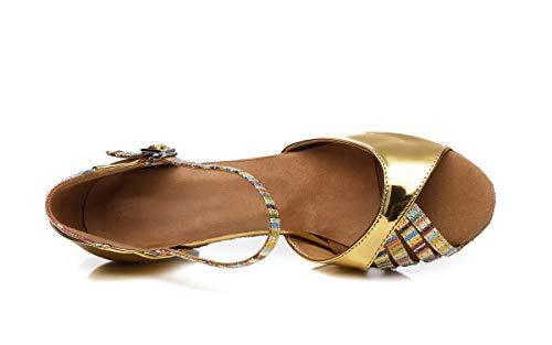 l308 Heel Minitoo Donna Da Sala 5cm 35 Minitoouk gold Oro rqO85nrRx