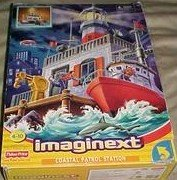 Imaginext Coastal Patrol Station with Boat and Action Figures with Accessories