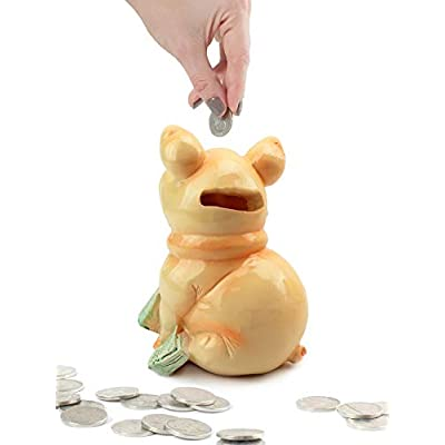We pay your sales tax Sitting Pig on Cash Money Piggy Bank Coin Bank: Toys & Games