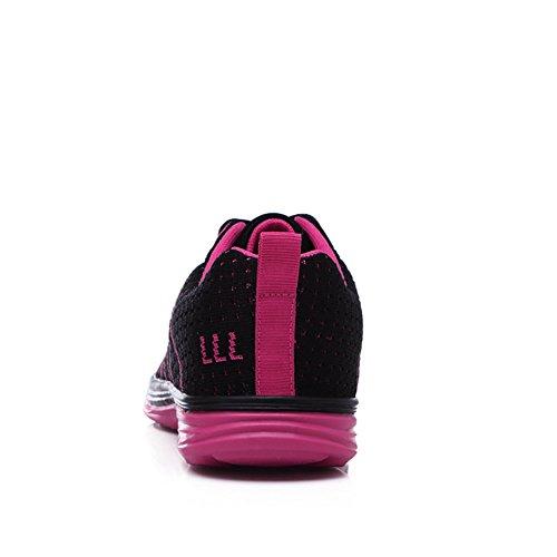 Stq Women Casual Flyknit Scarpe Traspiranti Leggere Scarpe Da Ginnastica Leggere Sneakers Stringate Nere