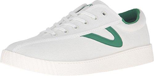 (Tretorn Women's Nylite Sneakers, Vintage White/Green, 10 M US)