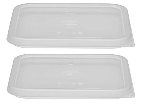 Cambro SFC6SCPP190 Polypropylene Seal Covers for 6 & 8 Quart CamSquare Containers, Pack of 2, Translucent
