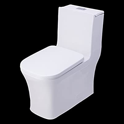 BAI 1007 Contemporary Toilet – One Piece Dual Flush Soft Close Seat