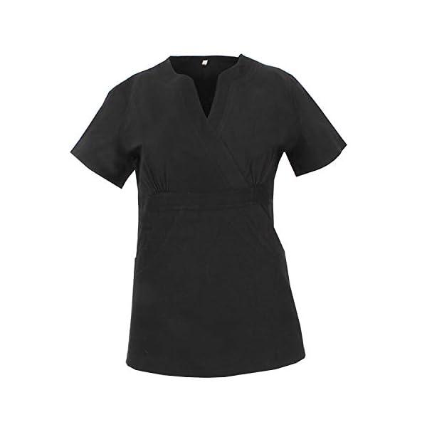 MISEMIYA Uniformes Sanitarios Elástica Señora Clinica Hospital Dentista Veterinaria Pantalones Cortos de utilidades de Trabajo para Mujer 2