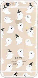 iPhone 6 / 6s , TPU Transparent Clear Case Bumper Ultra Slim Translucent Gel Cover for Apple iPhone 6 / 6S (cute ghost overload) ()
