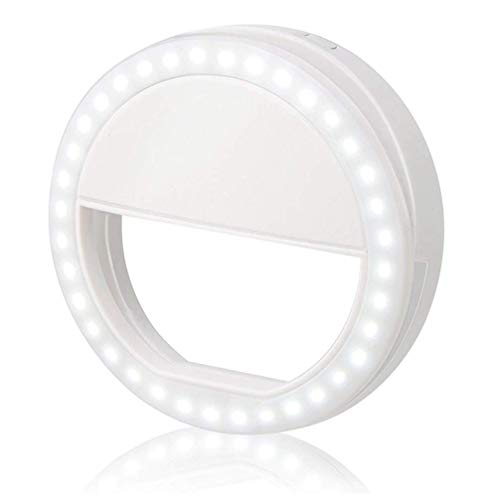 (Selfie Ring Light,Yihongda Clip On Selfie Light for Phone Camera 3-Level Brightness Mini Selfie LED Camera Light for iPhone,iPad,Sumsung Galaxy,Sony, Motorola,Smart)
