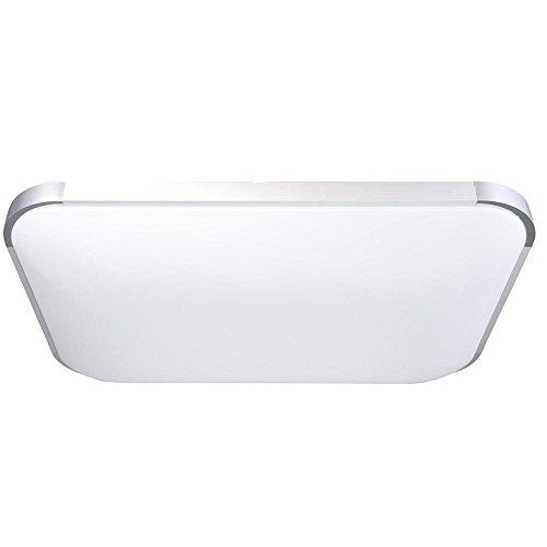 48W Rectangle Ceiling Light LED Dimmable Fixture Flush Mount w/Remote Control Kit 3000-6500K Color Temperature Adjustable Brightness