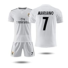 GLJJQMY Short de Tee-Shirt à Manches Courtes Real Madrid 18-19 Maillot Domicile 10e Maillot d'entraînement de Football Modric Magic Flute T-Shirt Basketball (Color : C, Size : L)