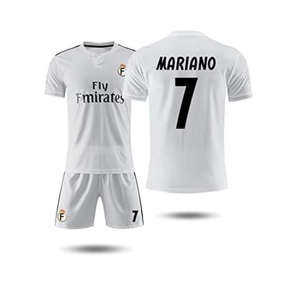 GLJJQMY Short de Tee-Shirt à Manches Courtes Real Madrid 18-19 Maillot Domicile 10e Maillot d'entraînement de Football Modric Magic Flute T-Shirt Basketball (Color : C, Size : L)