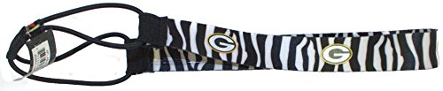 NFL Officially Licensed Green Bay Packers Zebra Striped Headband by aminco