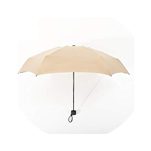 (180G Mini Fresh Sunscreen 5 Fold Sun Umbrella Innovative Ultralight Pocket Folding Umbrella 9 Colors,Dark Khaki)