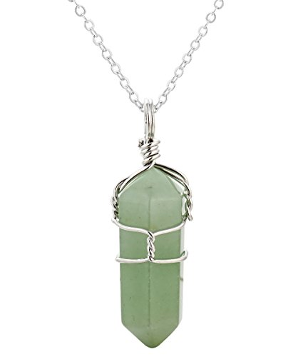 WRCXSTONE Natural Gemstones Crystal Necklace