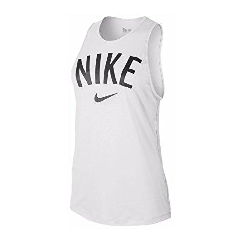 Nike Womens Tomboy Graphic Training Tank Top White/Black 648577-100 Size Small