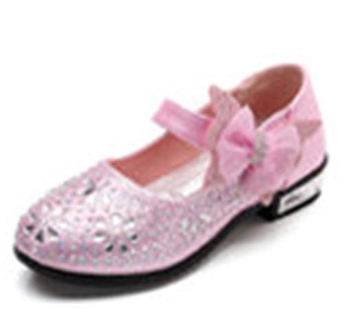 ZWEILI Bow Sequined Cosplay Princess Shoes(Pink/2,EU 29/12 M