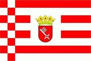 Bremen bandera Bandera, 1,50x 2,50m XXL–FRIP–Versand®