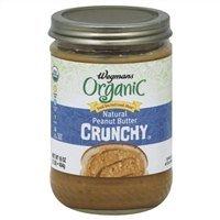 Wegmans Natural Peanut Butter, Organic, Crunchy, 16 Oz (Pack of 2)