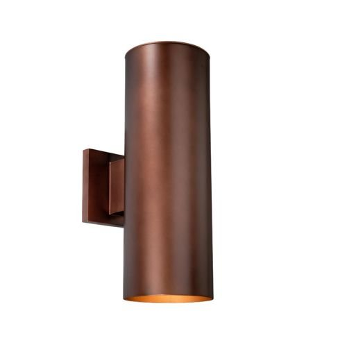Vaxcel USA COOWB052BZ Chiasso 2 Light Large Outdoor Wall Lamp Lighting Fixture in Bronze, Glass