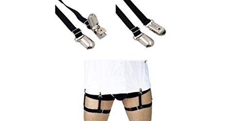 PAR de Sujetadores de Camisas con CLIPS DE PLASTICO de excelente calidad, cómodos, ajustables, elásticos y no irritan....