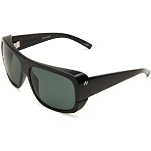 Electric Visual El Guapo ES09101642 Polarized Wrap Sunglasses,Gloss Black Frame/Grey Poly Lens,One Size