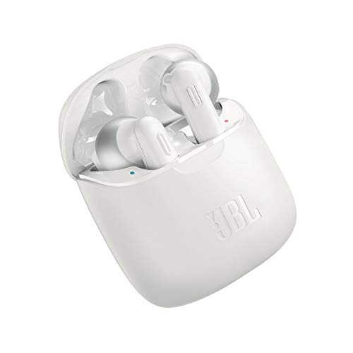 JBL Tune 220TWS by Harman True Wireless in-Ear Headphones with 19 Hours Playtime, Stereo Calls & Bluetooth 5.0 (White)