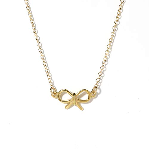 14k Gold Filled Bow - BENIQUE Necklace - 14K Gold Filled Fine Chain, 16