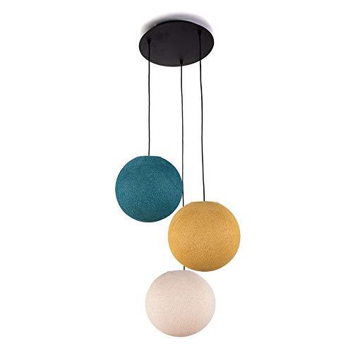 Lámpara de techo 3 globos S Lin - mostaza - azul pato ...