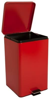 McKesson 81-35267 Entrust Waste Can, Steel, Square, 18-1/4'' Height, 12-1/4'' Width, 11-1/2'' Length, 8 gal, Red, Square by McKesson