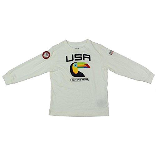 Polo Ralph Lauren Olympics Team Toddler's Graphic Slogan T-Shirt White - Polo Lauren Ralph Team