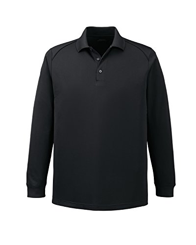 Extreme Armour Eperformance Snag Protection Long Sleeve Polo (85111) -BLACK 703 -L