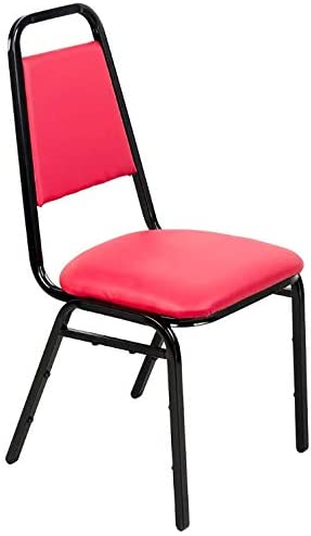 """Red Stackable Banquet Chair with 1"""" Padded Seat. Chair for Kitchen, Dining, Bedroom, Living Room Side, Party, Ivents, Banquets."""