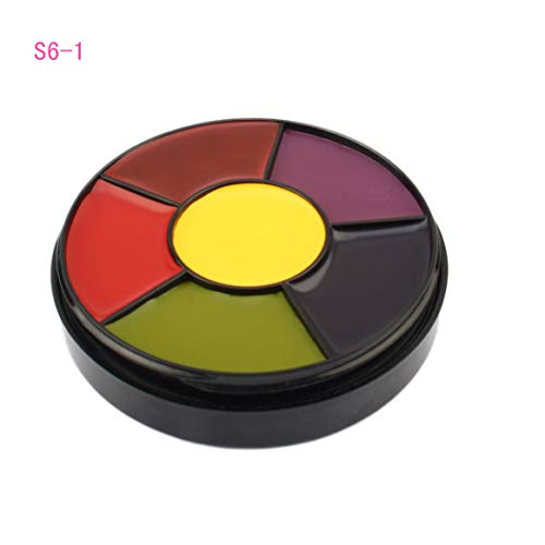 6 Colors/SET Large Capacity Body Painted Oil Color Drama Clown Halloween Makeup Face Color Easy To -