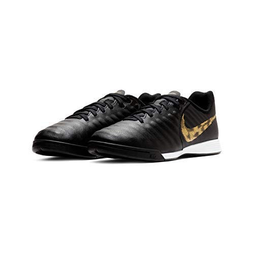 Nike Youth Tiempox Legend VII Academy Indoor Shoes (6 M US), Black/Metallic Vivid Gold
