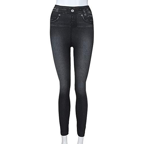 Pantalons Jeans fit Jeans Femme Hiver Dames Automne Slim Chic Taille Droit Legging Haute Moulant Pantalons Pantalons Elastique Trousers Skinny Solide Crayon Koly Pants Stretch 2018 Noir Femme nfw0Pxn