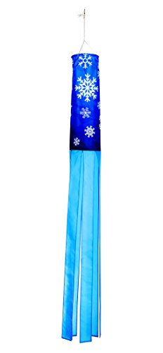 "Trademark Innovations 60"" Snowflake Design Column Windsock - Blows in the Wind"