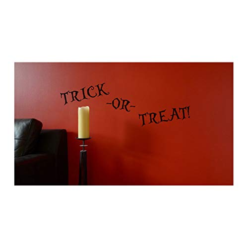 Trick-or-Treat Text Cut Vinyl Decal for Halloween - 30