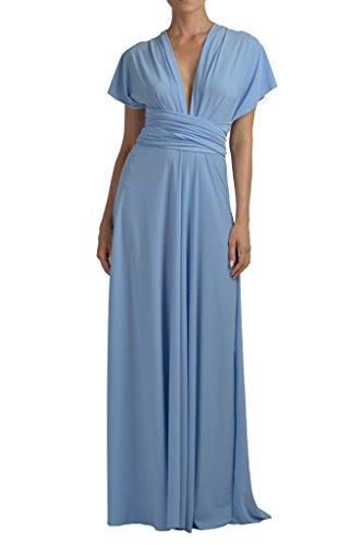 Von Vonni mujer Vestido largo de mujer Transformer/Infinity Azul Celeste