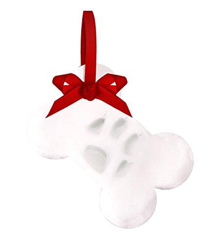 Tiny Ideas Pet Paw Prints Dog or Cat DIY Holiday Ornament, Bone