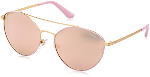 Vogue Eyewear Womens Sunglasses (VO4023) Pink/Gold Metal - Non-Polarized - - Vogue Sunglasses