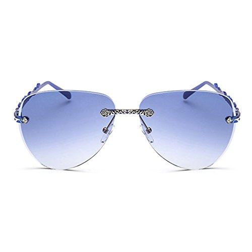 LOMOL Womens Trendy Metal Frame UV Protection Personality Drive Beach - Sunglasses Uk Promotional