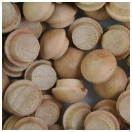WIDGETCO 3/8' Cherry Button Top Wood Plugs