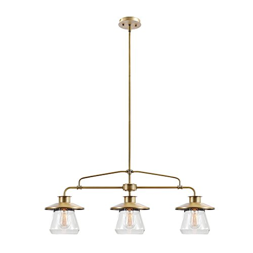 Nate 3-Light Brass Pendant ()