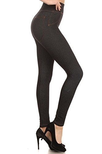 99fd8822ecad3 ShoSho Womens Extremely Stretchy Denim Jeggings Leggings Plus and Regular  Sizes at Amazon Women s Clothing store