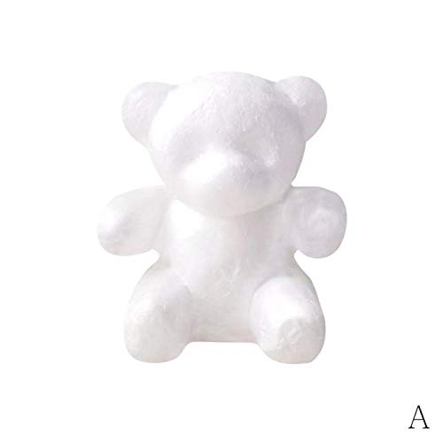 modelando el oso de la espuma de la espuma de poliestireno del poliestireno para el oso de Rose de DIY Oso de espuma que modela las formas blancas del oso de la espuma del poliestireno 3D
